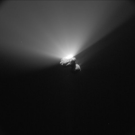 ROSETTA photographs comet 67P-Churyumov/Gerasimenko at perihelion